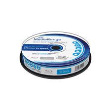 Blu-ray BD-R DL 50GB 6X MediaRange FF InkJet Printable Tarrina 10 uds