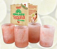 Himalayan Salt Tequila Shot Glass Set(4pcs) - Hand Carved - By Himalayan Secrets