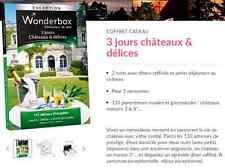 E-Billet Wonderbox ''3 jours chateaux délices'' e-billet 269 € au lieu 299€