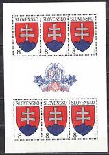 SLOVAKIA 1993 **MNH SC# 151 Special Sheet - Natl. Arms