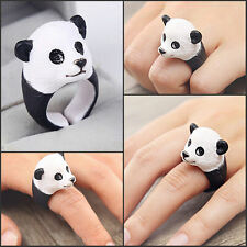 Lovely 3D Animal Cartoon Panda Finger Ring Cute Panda Rings Gift for Kids Child