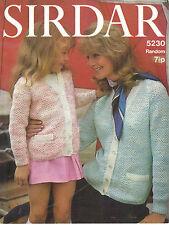 Sirdar Courtelle Random/Crepe DK PATTERN cardigan for mother and daughter 5230