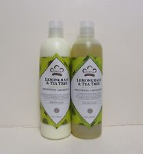 Lemongrass & Tea Tree Lotion & Body Wash Set.. by Nubian 13oz each (2 Bottles)