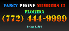 New listing Fancy Phone Numbers ! Florida (772) 444-9999