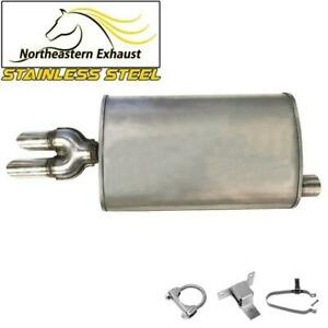 Exhaust Stainless Steel Muffler Dual Tip fits: 1995-2005 Cavalier Sunfire