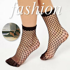 Fishnet Socks Spring Summer Breathable Sexy Thin Hollow Fishnet Ankle Socks uR