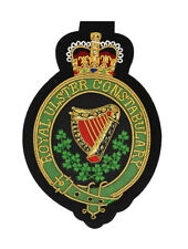 More details for royal ulster constabulary ruc embroidered blazer badge