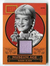 Susan Olsen 2014 Panini Golden Age Museum Age Material Relic Swatch Card *AA1421