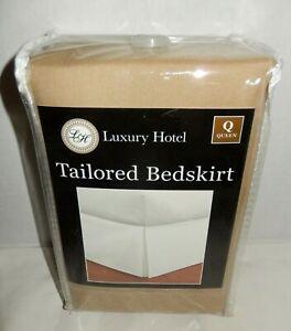 "NEW Luxury Hotel Tailored Bedskirt Queen FRE 236 Mocha 14"" Drop"