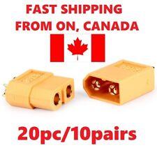 10Pair/20pcs XT60 Male & Female Bullet Connectors Plugs for RC Lipo. Canada Ship