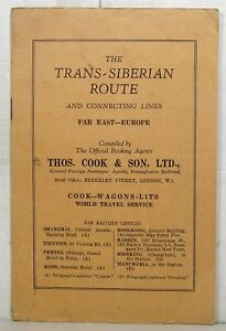 1934 Thomas Cook brochure on Trans-Siberian Route with map