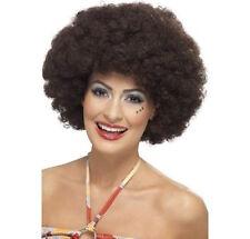 Haut femme 70's Perruque Afro Bouclés Brun Pop Star Disco BOOGIE robe fantaisie night fever