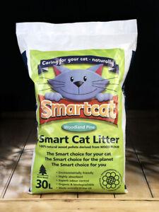 Smart Cat Wood Based Litter 30 Litre High Absorbance Odour Control