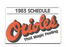 1983 Baltimore Orioles Multi Fold Pocket Schedule