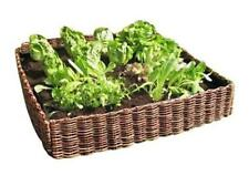 Salad Vegetable Raised Bed Garden Planter Woven Willow Hurdle Surround 75x75x15c