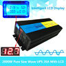 LCD 4000W peak 2000W Pure Sine Wave Power Inverter 12V DC to 230V AC UPS Charger
