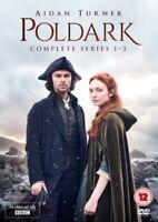 Neuf Poldark Série 1 Pour 3 Complet Collection DVD Région 2