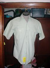 4 NEW US Army Green 415 Mens poly cotton Short Sleeve Shirts size 16 FREE SHIP