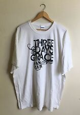 Three Days Grace Fan Club Official T-Shirt Unisex 2XL Band Tee White