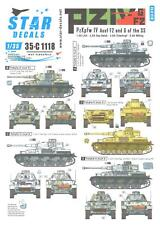 Star Decals 1/35 PANZER IV PzKpfw IV F2 & PzKpfw IV G TANKS IN RUSSIA