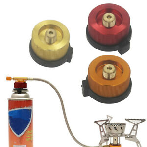 1x Metal Butane Gas Adapter Convert Camping Stove Fuel Canister For Long Tank