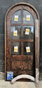 Rustic reclaimed lumber arched door solid wood 37-1/2 X 85-1/2 HERE in stock
