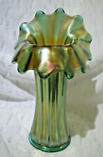 Milky White Outside Bright Yellow on Inside #193 Vintage Blown Glass Jack-in-the-Pulpit Bud Vase