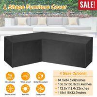 L Shape Waterproof Garden Patio Corner Furniture Cover Outdoor Sofa Protector