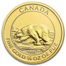 2013 1/4 oz Proof Gold Canadian $10 Polar Bear Coin - SKU #83205