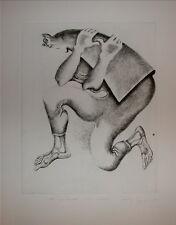 Yves Jobert gravure originale signée numérotée Artiste graveur Surréaliste
