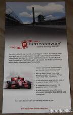 2012 Dario Franchitti Sim Raceway Honda DW12 Dallara Indy 500 Indy Car postcard