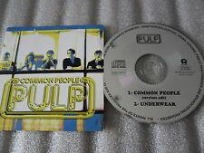 CD-PULP-COMMON PEOPLE-UNDERWEAR-DIFFERENT CLASS-FUN RADIO(CD SINGLE)1995-2 TRACK