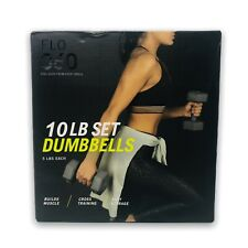 Flo 360 Dumbbells 10 LB Set (Two 5 LB Weights) Grey Weight Yoga 4,5 KG  Muscle