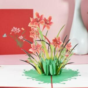 3D Pop-Up Daffodil Greeting Card for Birthday Mothers Father's Day Wedding