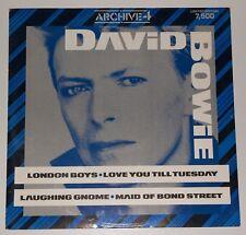 """David Bowie London Boys unique 12"""" ltd edition vinyle TOF 105 excellent état"""