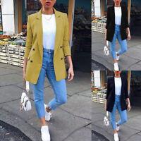 Mode Femme Blazer Manteau Affaires Manche Longue Loisir Casuel en vrac Plus