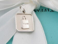 04780a8a748 NEW TIFFANY & CO SILVER LEXICON SHOPPING BAG PENDANT CHARM POUCH INCLUDED