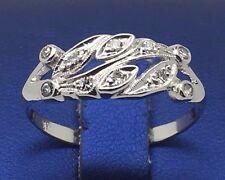 14K WHITE GOLD BEAUTIFUL DIAMONDS BAND RING