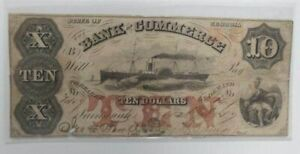 1857 U.S. State of Georgia, Bank of Commerce, Circulated Ten Dollar Bank Note