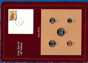 Coin Sets of All Nations Malaysia 1981 - 1983 UNC 1,50 Sen 1983 5,20 Sen 1982