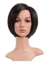 Perruques, extensions et matériel cheveux synthétiques brun foncé pour femme