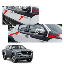 Side Molding Exterior Window Black Red 4Pc For Chevrolet Holden Colorado 2017 +