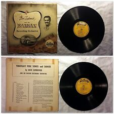 Yugoslav Folk Songs and Dances by Dave Zupkovich - Balkan Vinyl Album 33LP