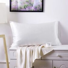 100 Pure Mulberry Silk Pillow Case 19 Momme One Side Silk Pillowcase Ivory White