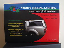Flexiglass Canopy Remote Central Locking Kit for 3 lift up windows