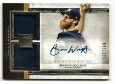 2020 MUSEUM COLLECTION BRANDON WOODRUFF DUAL JERSEY RELIC w/ AUTOGRAPH #53/299