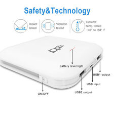 Portable 6000mAh LED Power Bank External 2 USB Battery Charger For Cell Phone