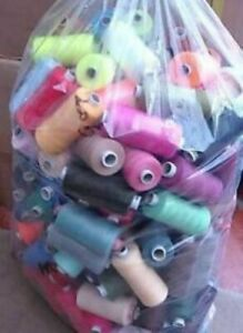 50 X 1000 yards  PACK OF 50 THREADS 100% POLYESTER MIXED/ASSORTED SEWING THREAD
