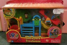 Fisher-price Dora the Explorer backyard tree house dollhouse furniture Nick Jr
