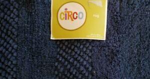 """Circo Navy Blue Rug 48"""" x 70"""" NIP"""
